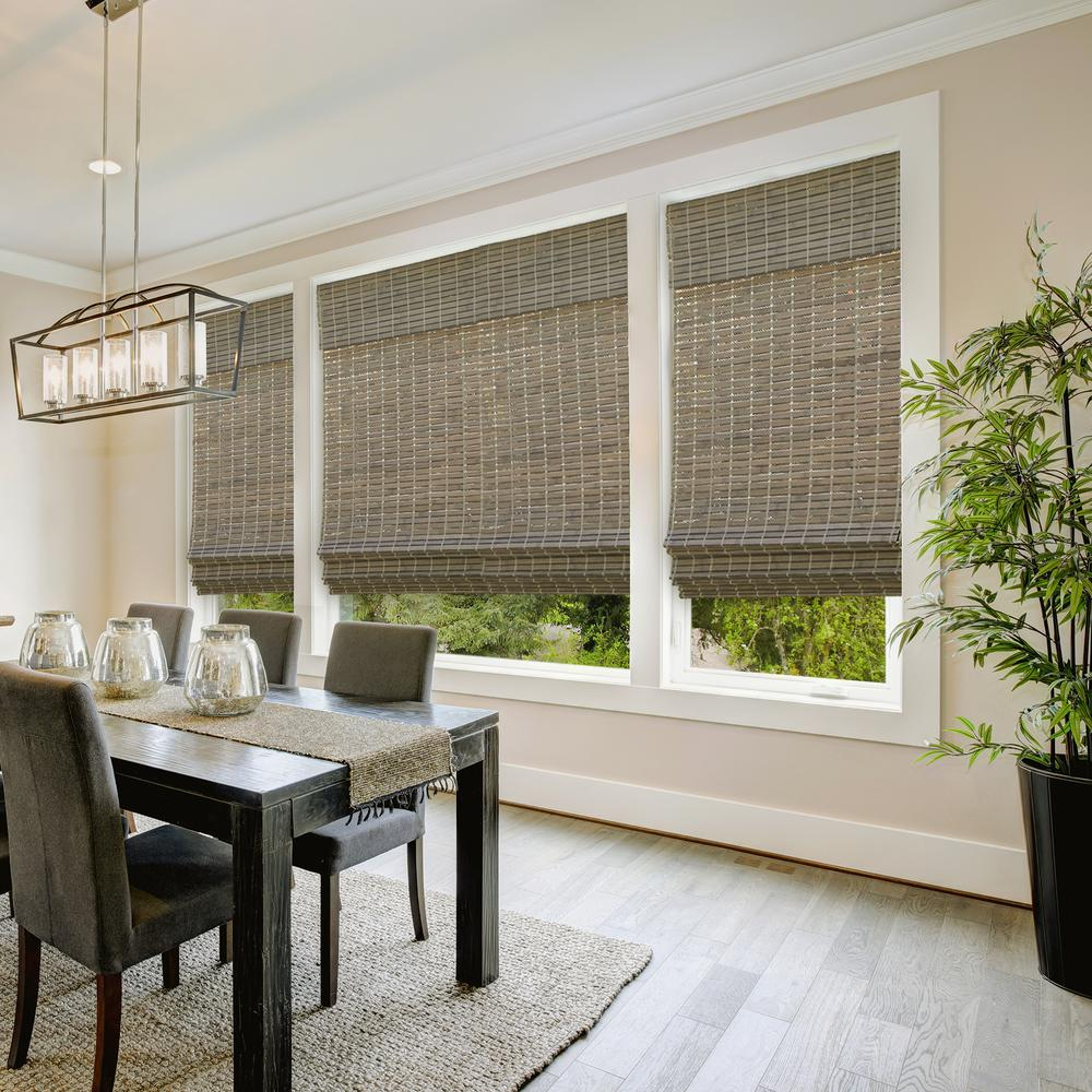 Roller style bamboo blinds